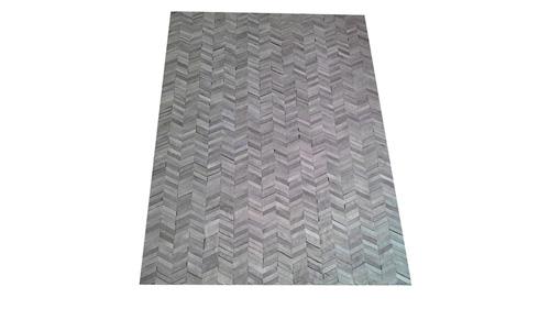 Chevron Cowhide Rug - Grey Tones / Herringbone Cowhide Rug - Grey Tones - CH1