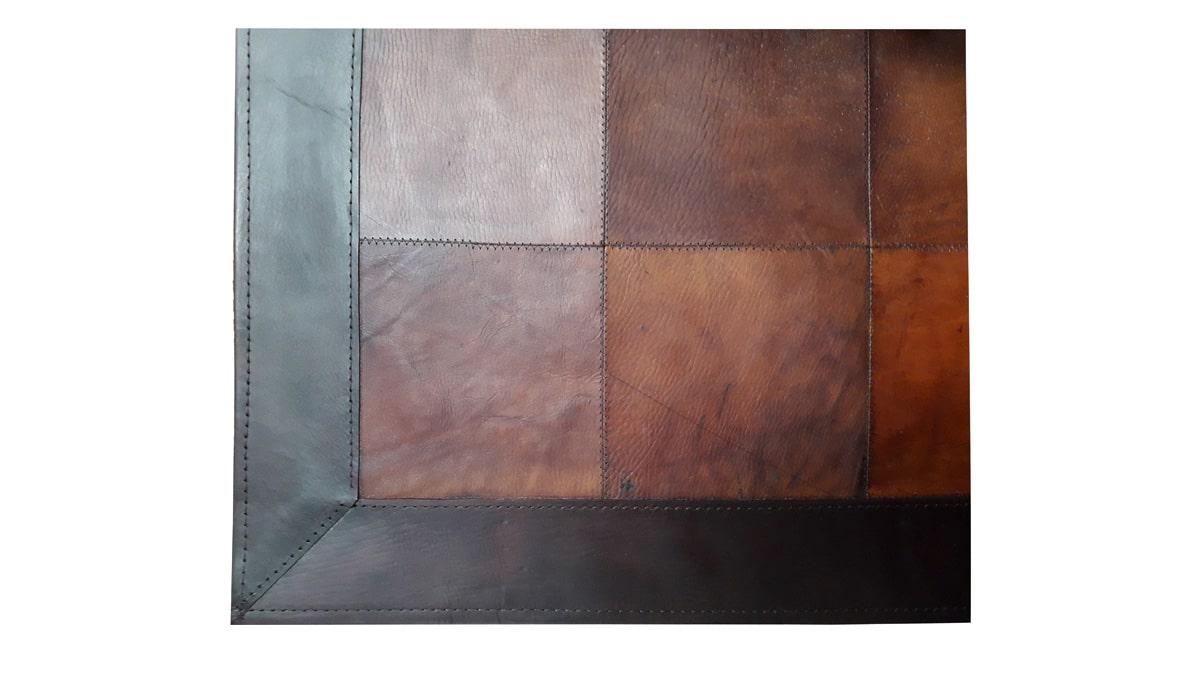 Patchwork Leather Rug - Light Brown - Leather Rug - Light Brown - LR1