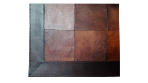 Patchwork Leather Rug - Light Brown - Leather Rug - Light Brown - LR1
