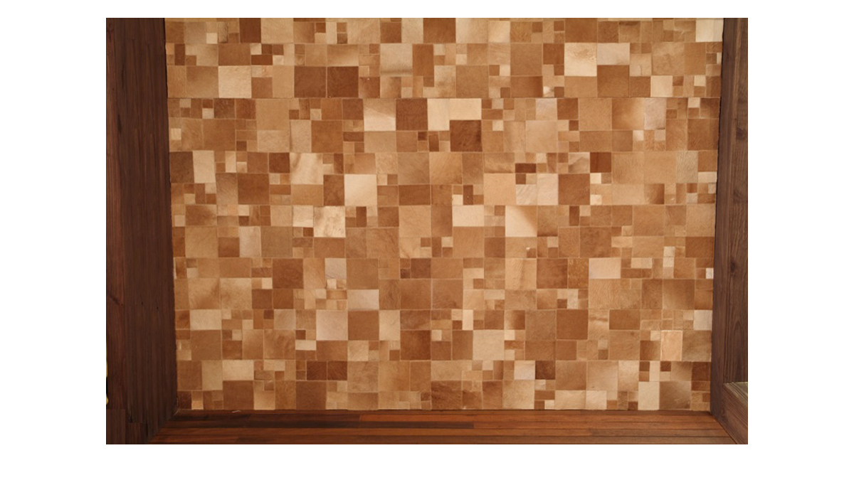 Hair on Hide Panels for Wall Coverings