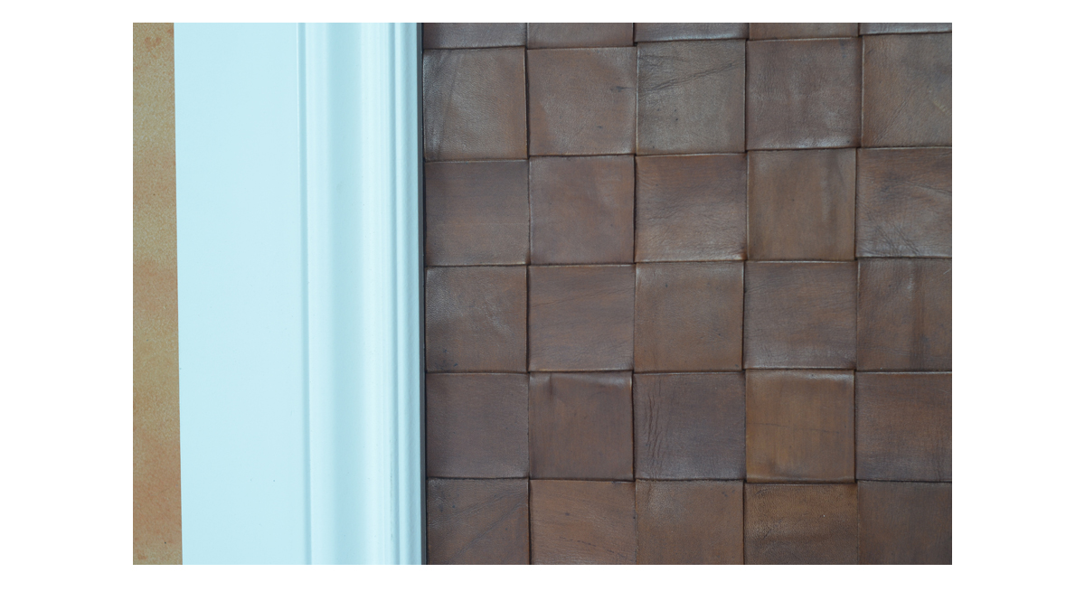 Woven Leather for Wall Coverings