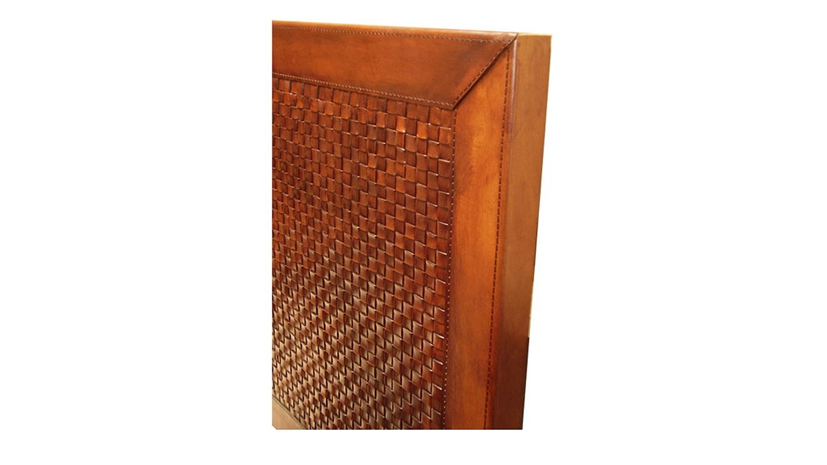 Woven Leather Bed Headboard