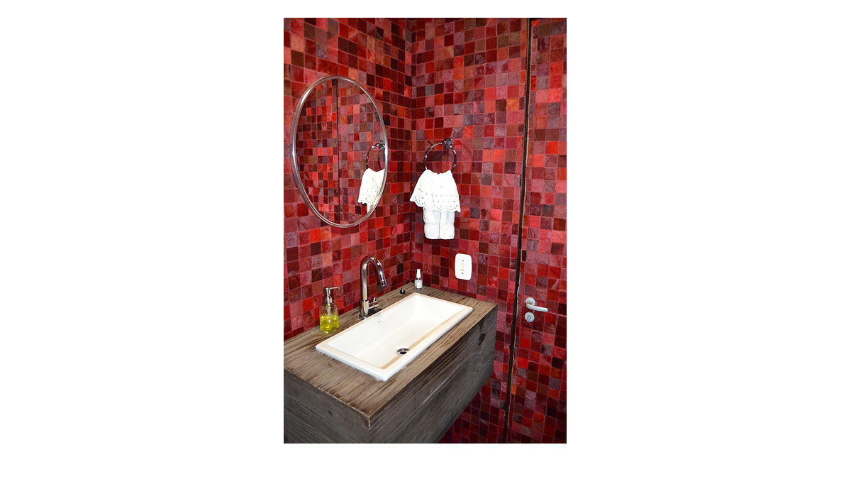 Hair on Hide Tiles & Panels for Bathroom Wall Coverings