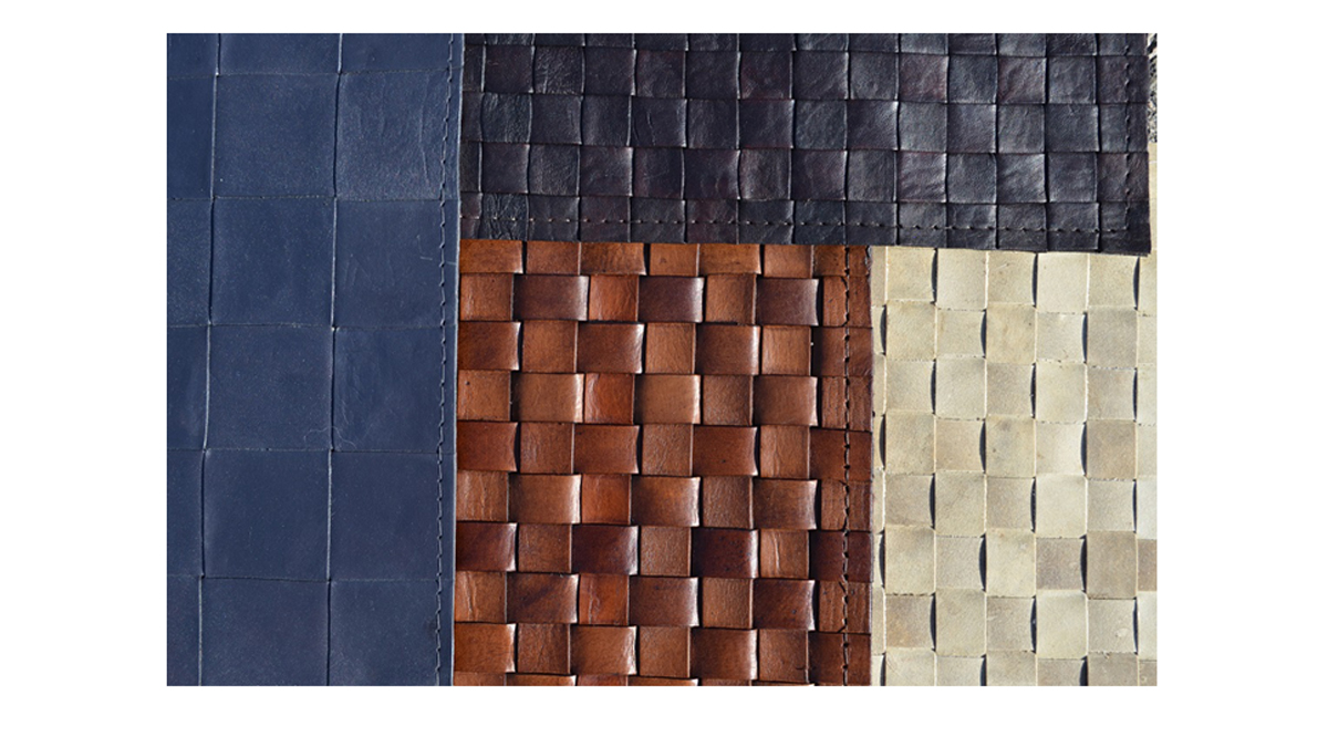 Woven Leather Designs for Wall Coverings