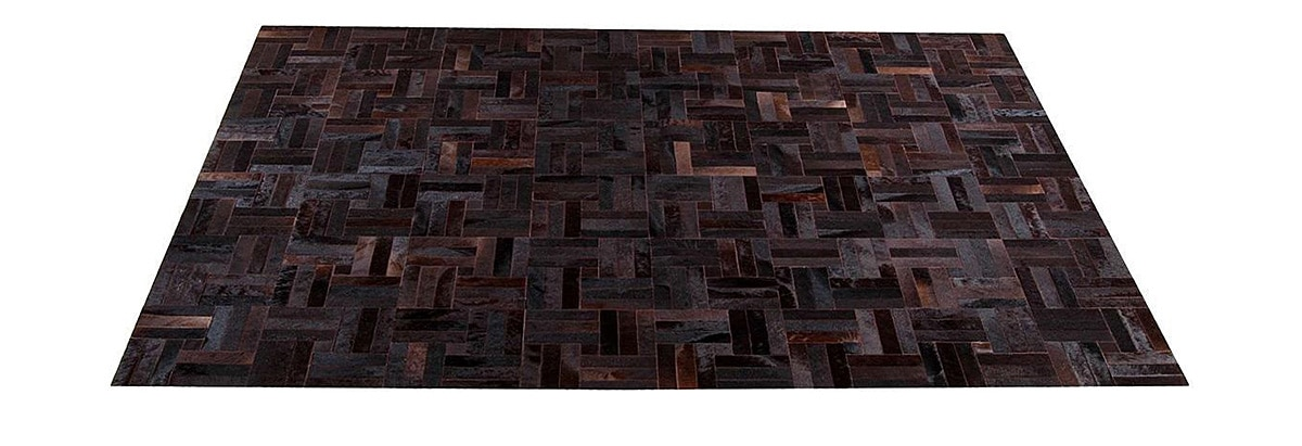 Natural Brown Cowhide Rug - Tile design - P18