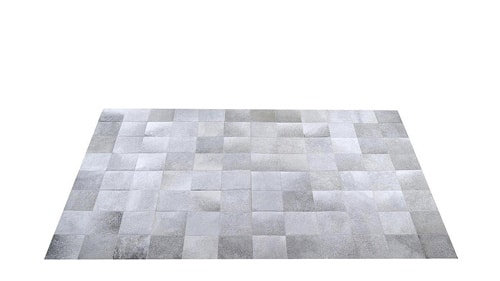 Grey Patchwork Cowhide Rug - Square Tiles - P2