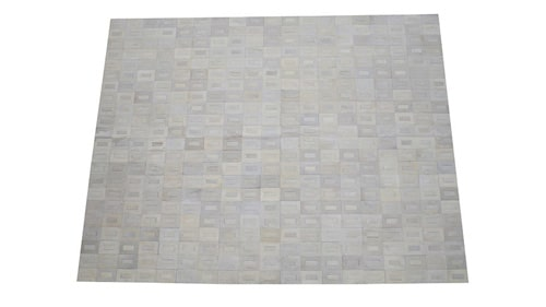 Off White Patchwork Cowhide Rug - Tango design - P14