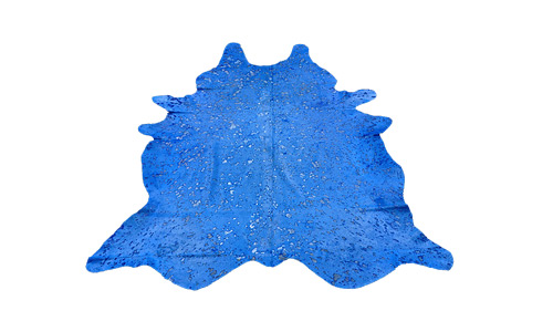 Blue Devore Cowhide - DC1
