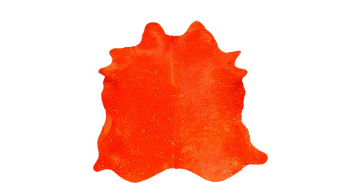 Orange Devore Cowhide - DC3