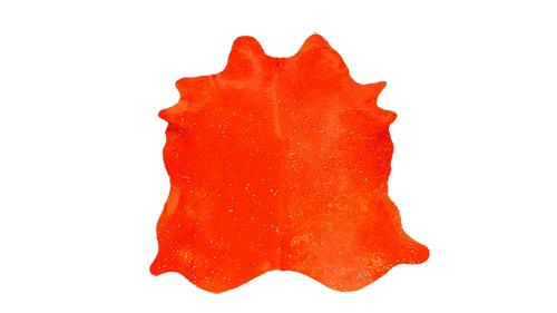 Orange Devore Cowhide - DC3