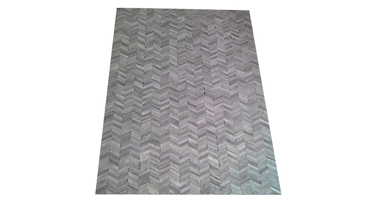 Grey Cowhide Rug - Chevron Hide Rug - G2