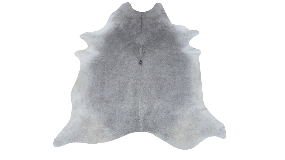 Solid Grey Cowhide - GC2