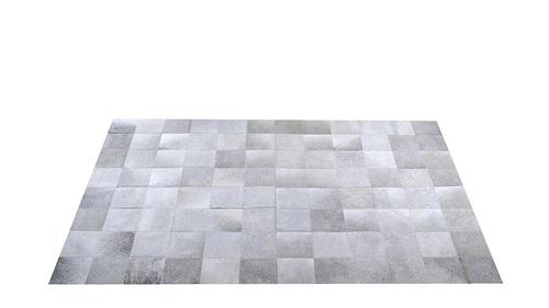 Grey Cowhide Rug - Square Tiles - G3