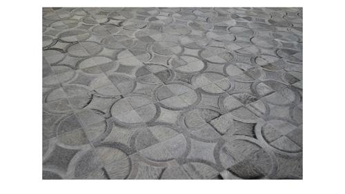 Grey Cowhide Rug - Doral Luxor design - G4