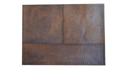 Patchwork Leather Rug - Light Brown / Leather Rug - Light Brown - LR1
