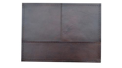Patchwork Leather Rug - Dark Brown / Leather Rug - Dark Brown - LR2