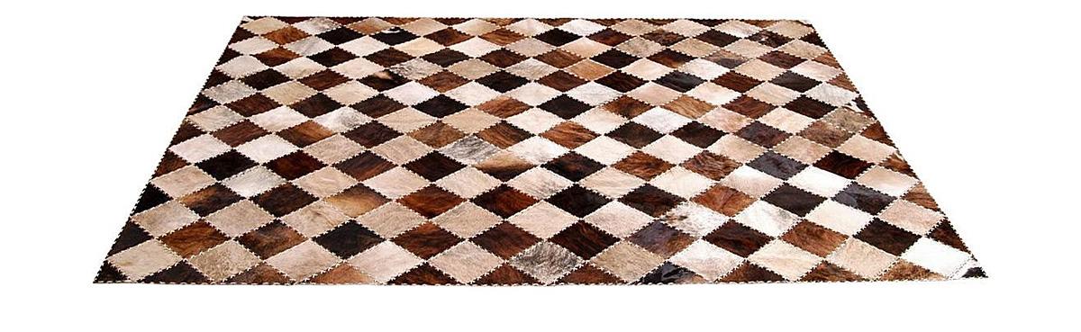 Brindle Exotic Patchwork Hide Rug - Tiento design - NC9