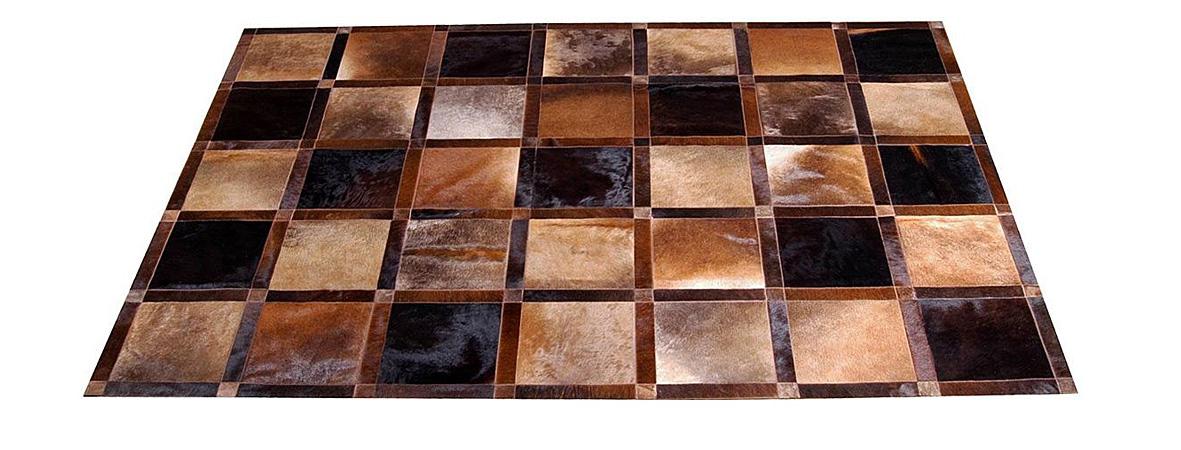 Brown and Caramels Patchwork Hide Rug - Frames design – NC11