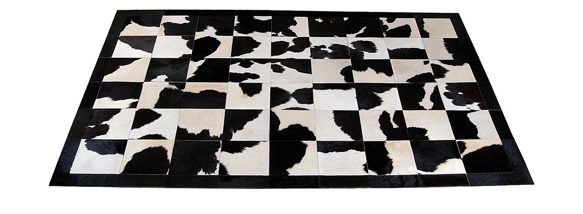 Black and White Patchwork Hide Rug - Holando design – NC12