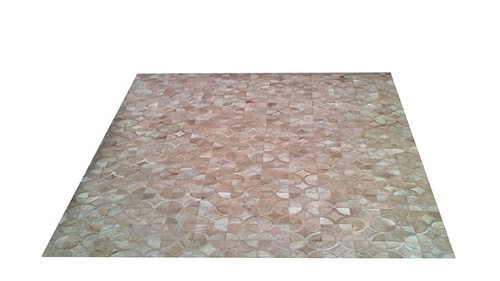 Light Tan Patchwork Hide Rug - Doral Luxor design - NC4