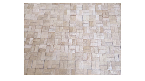 Light Tan Patchwork Hide Rug - Chalten design - N5