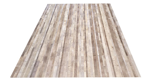 Desert Tones Stripes Hide Rug - Stripes Cowhide Rug – NC6