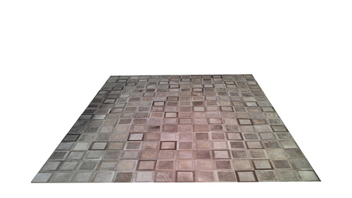 Light Taupe Patchwork Hide Rug - Ayelen design - NC7