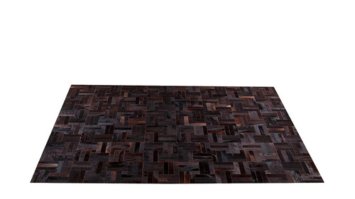 Brown Patchwork Hide Rug - Tile design - NC8