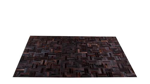 Brown Patchwork Hide Rug - Tile design - NC8