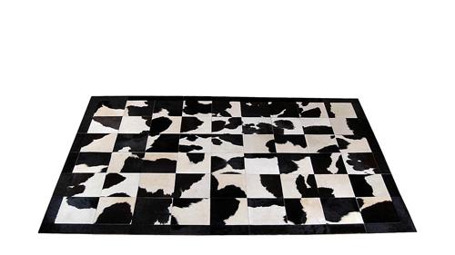 Black and White Patchwork Hide Rug - Holando design – NC12