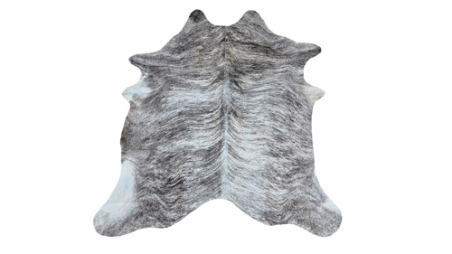 Grey & White Brindle Cowhide - ONC3