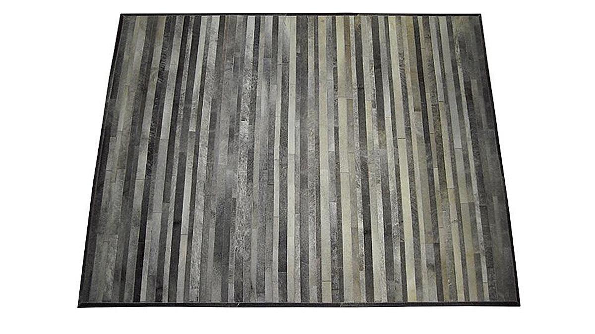 Stripes Cowhide Rug - Grey - S2