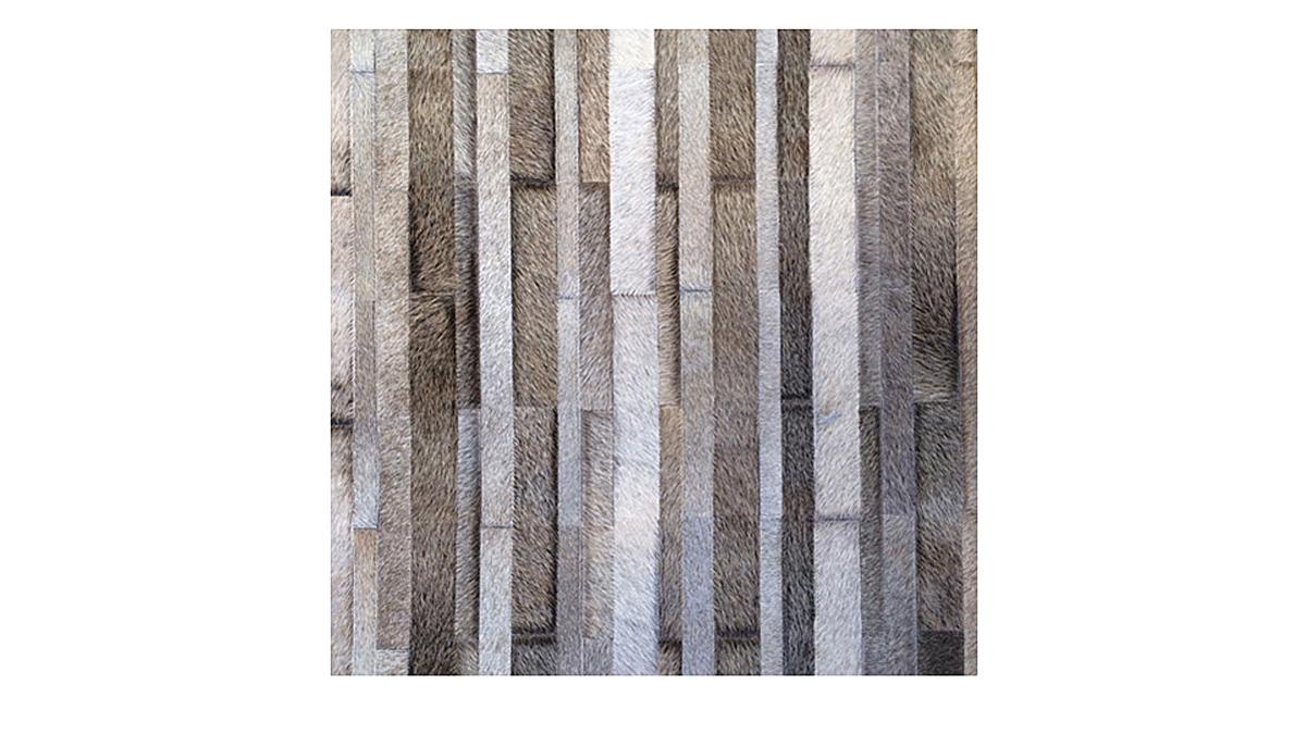 Stripes Cowhide Rug - Brownish Greys - S3