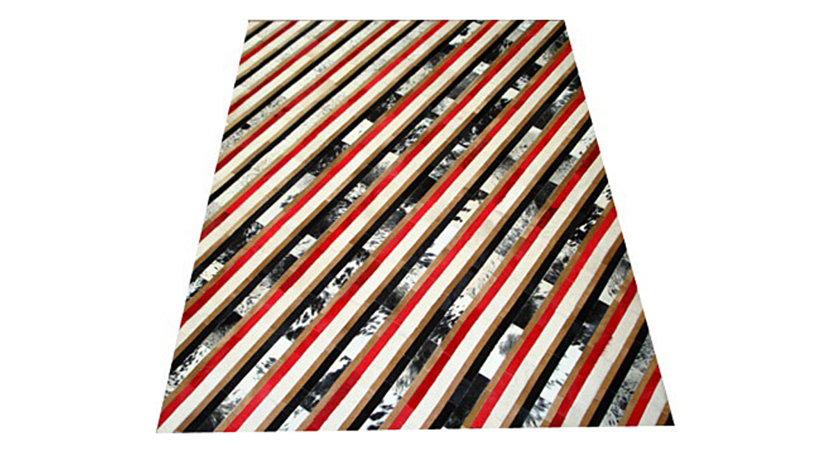 Stripes Cowhide Rug - Diagonal - S9