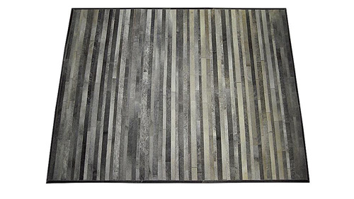 Stripes Cowhide Rug - Grey - S2
