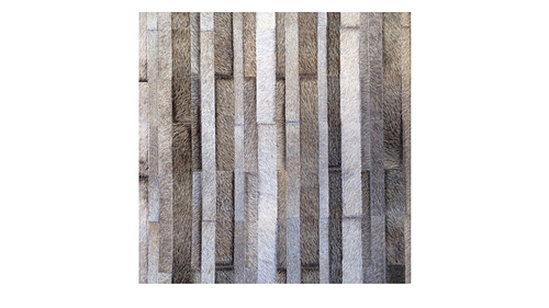 Stripes Cowhide Rug - Brownish Greys - S3