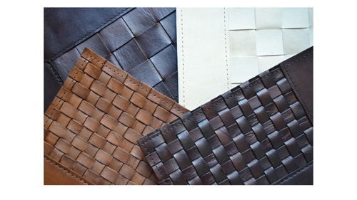Braided Leather Rug - WL4