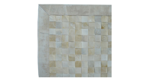 Woven Leather Rug - Atuel / Basket Weave Leather Rug - Atuel - WL9