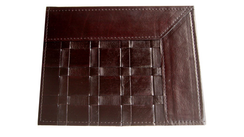 Woven Leather Rug - Frames Dark Brown / Basket Weave Leather Rug - Frames Dark Brown - WL12