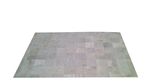 White Cowhide Rug - Doral Luxor design - W3