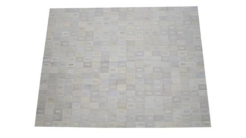 White Cowhide Rug - Tango design - W4
