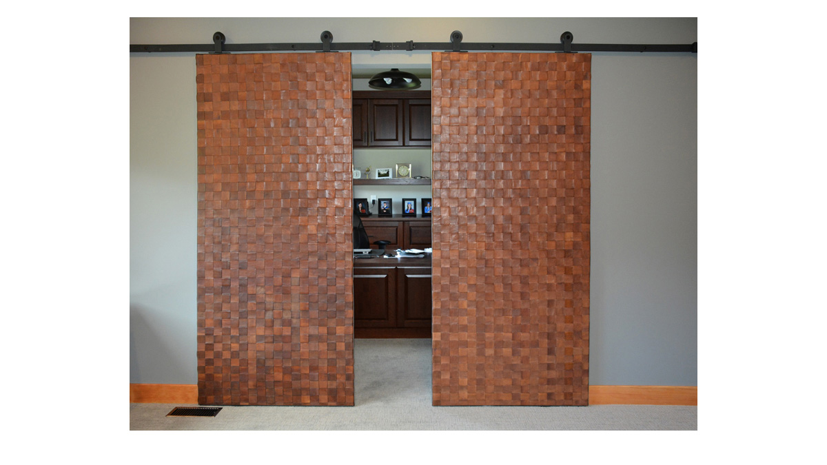 Woven Leather for Doors