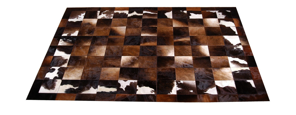 Patchwork Cowhide Rug - Iridescent Browns - Cordoba Design - MD2