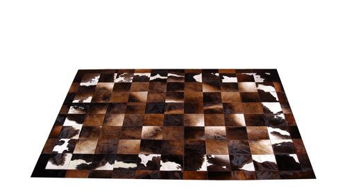 Patchwork Cowhide Rug - Iridescent Browns - Cordoba Design - MD2