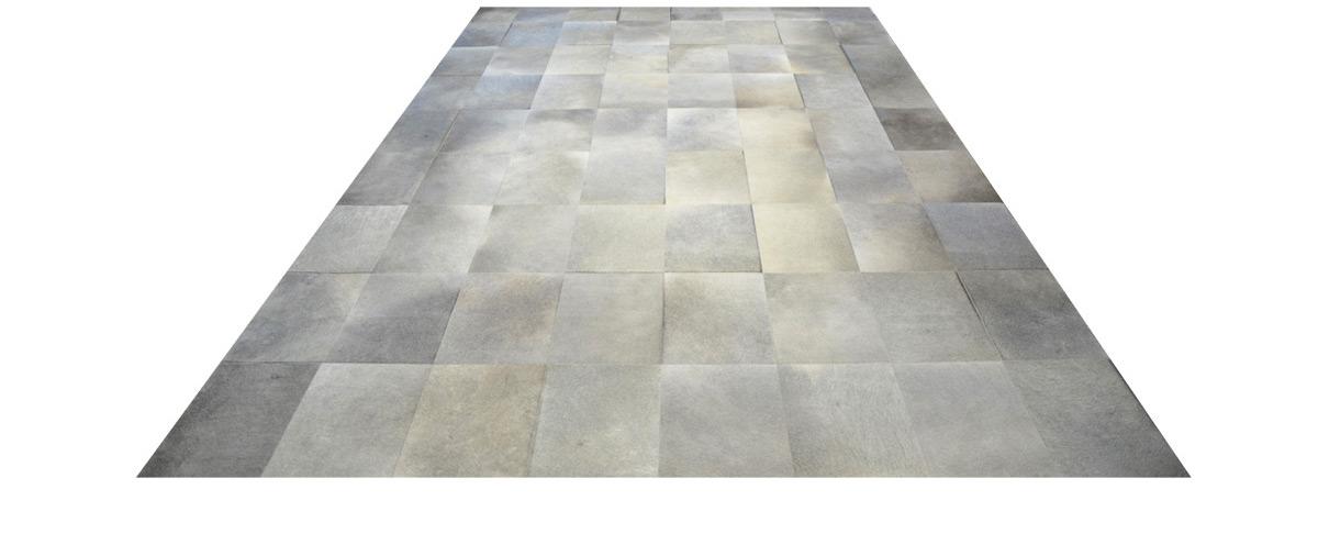 Grey Cowhide Rug - Large Tile design - P24