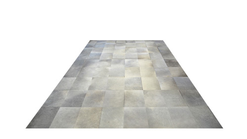 Grey Cowhide Rug - Large Tile design - P24