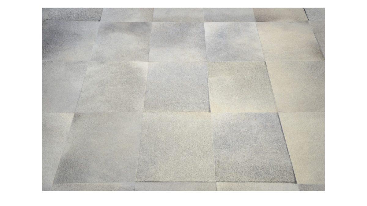 Grey Cowhide Rug - Large Tile design - G13