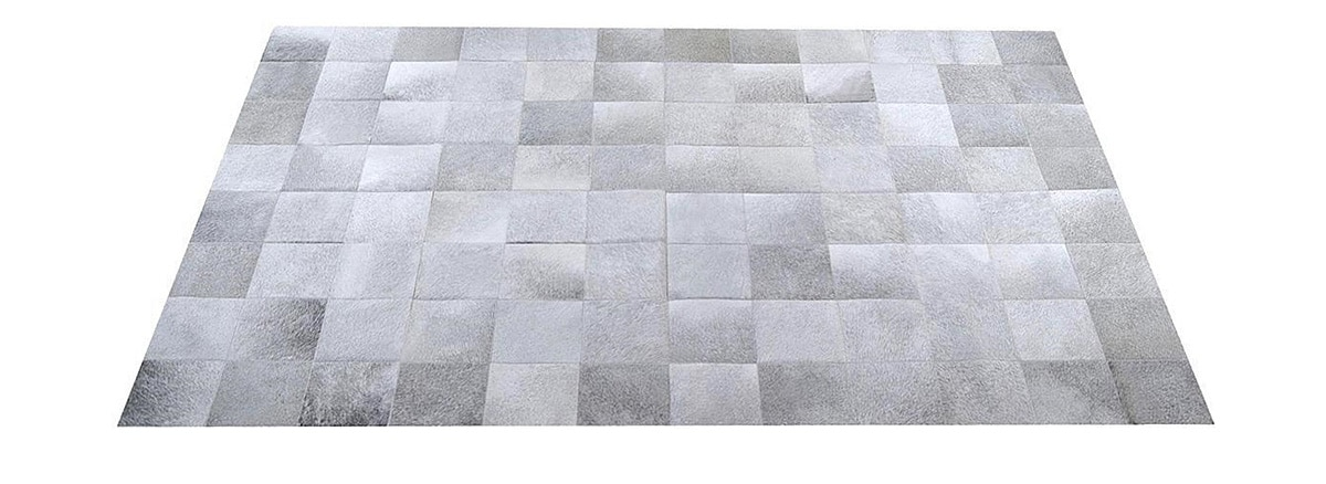 http://pampaleathercowhiderugs.com/grey-cowhide-rug-square-tiles-g5/