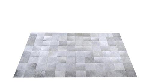 Grey Cowhide Rug – Square Tiles – G5