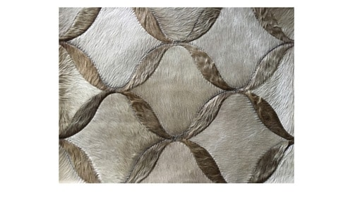 Light & Medium Sand Patchwork Cowhide Rug - Paimun design - P25